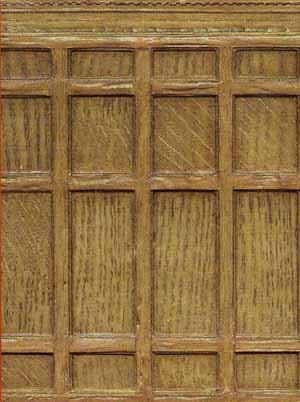Dollshouse Oak Panelling  C18