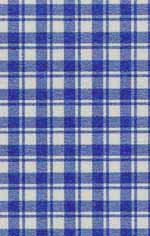09. French Check Blue Silk