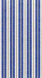 09.Toile Stripe Blue Cotton  Fabric