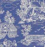 10.Reverse Toile  Blue Cotton