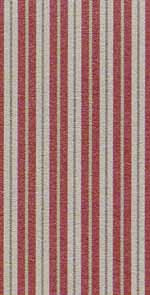 13. Toile Stripe Red Cotton