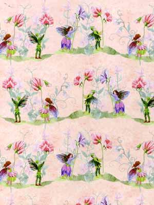 62. Fairies with Sweet Peas Wallpaper