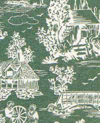 12.Reverse Toile Green Cotton