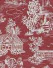 14. Reverse Toile Red Cotton