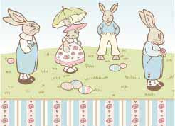 1/24th Bunny Parade Wallpaper