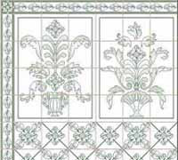 1/24th Leslie - Green Wallpaper