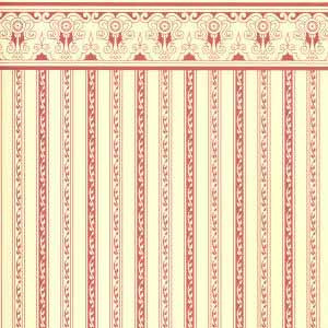 1/24th Regency Stripe Burgundy