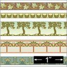 1/24th Arts & Crafts Border Wallpaper