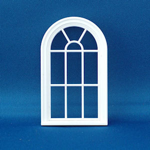 1/24th Scale Victorian 10 pane rounded top window