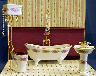 02. Reutter Dresden Rose Porcelain Bathroom Suite