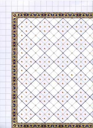 2.Blue Floor Tiles