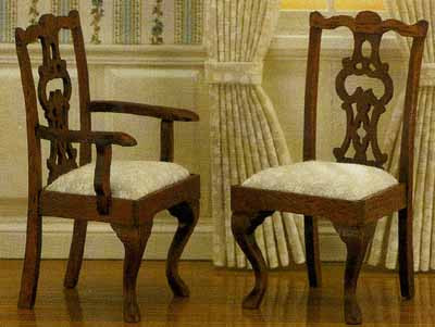 Chippendale Cabriole Leg Chairs