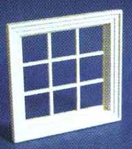 Georgian Window 9 Pane White