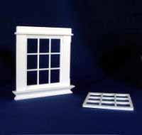 1/24th Scale Georgian 9 Pane Window.