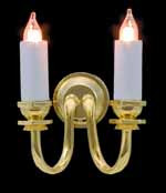 1/24th Scale Candle Wall Light - Double