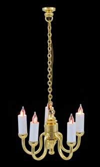 1/24th Scale Candle 5 Arm Chandelier