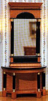 Biedermeier Mirror and Table