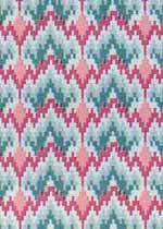 04. Bargello Raspberry Cotton