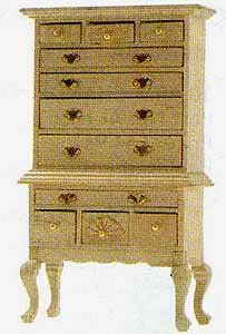 63. Chippendale Highboy