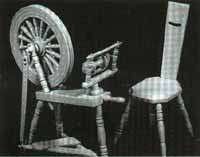 DH88 Spinning Wheel & Chair