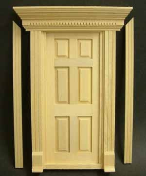 Exterior Door with Pediment