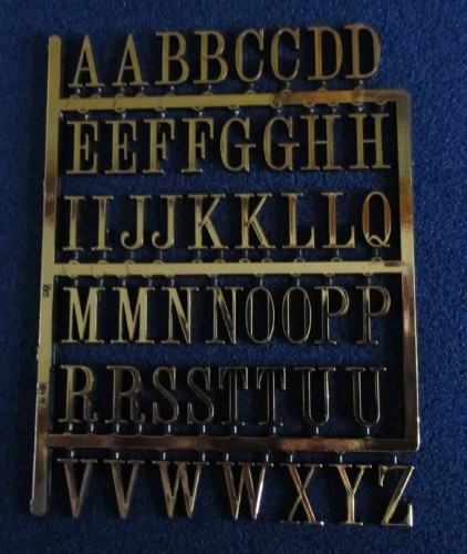 Gold Letters Small