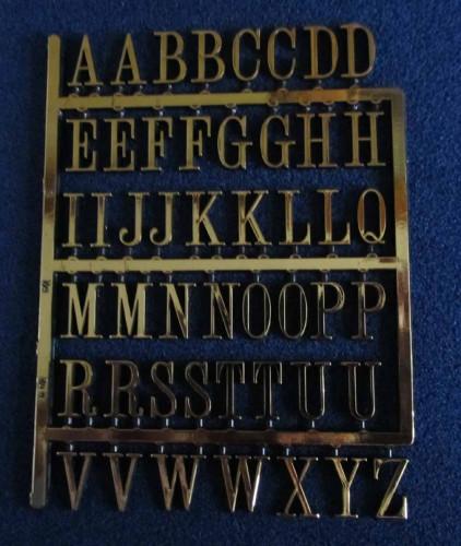 Gold Letters Medium