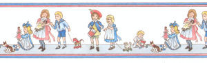 43. Border Nursery Children - White background