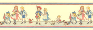 45. Border Nursery Children - Cream Background