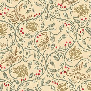 35. Birds & Berries - Cream