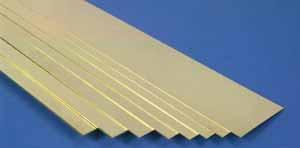 K & S 235 0.64 mm x 6.35 mm Brass strip