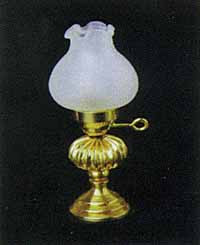 Oil Lamp - Floral Shade