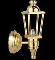 Coach Lamp Brass Finish - Battery Operated