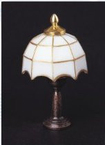 Tiffany Table Lamp - White Shade