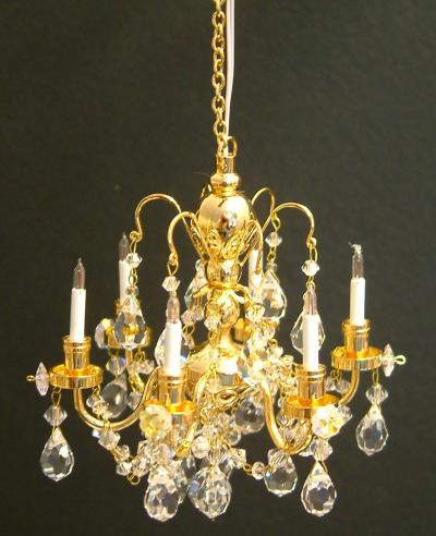 6 arm Crystal Chandelier