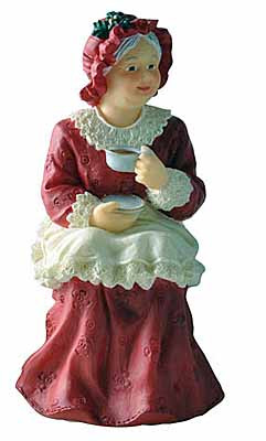 Mrs Santa - Resin Figure