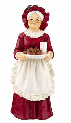 Mrs Santa Resin Figure.