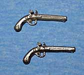 1/24th Scale Pair of Flintlock Pistols