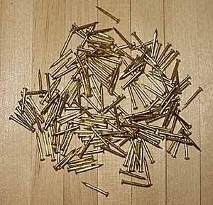 9mm Brass Nails / Pins