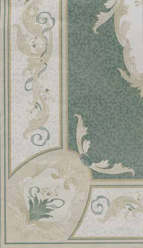 Aubusson Green Rug