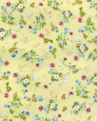 86. Rococco Silk - Green Wallpaper