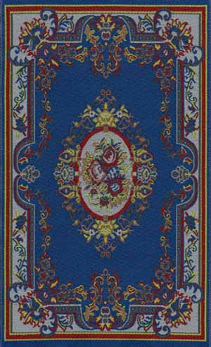 03. Blue Floral Cameo Rug
