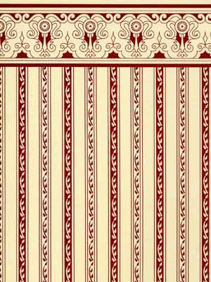 12. Regency - Burgundy Stripe
