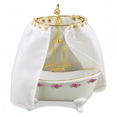 01 Reutter Dresden Rose Porcelain Bathtub with Shower