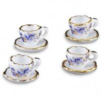 Reutter Tea Cups Blue and Gold