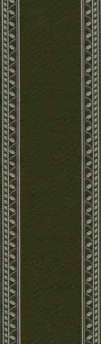 02. Olive Green Edged Stair Carpet