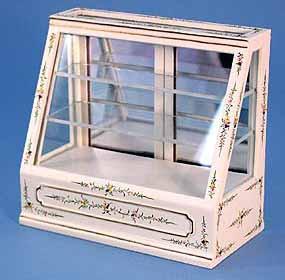 Dolls House Shop Sloped Front  Display Cabinet