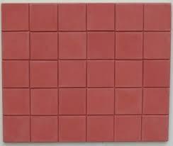 Terracotta Square Quarry Floor Tiles for a Dolls House