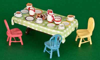 Tea Party (table, chairs, tea set)