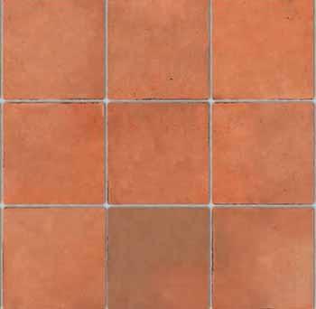 Embossed Terracotta  Tile Sheet - Large Tile